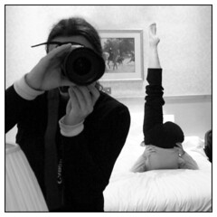 Stupid Hotel Games: Part Four: The Mirror (square crop) (hannes.trapp) Tags: bw reflection london self canon eos hotel mirror hannes bed bett photographer room spiegel games stupid sw schwarzweis spiegelung hotelroom silke trapp spiegelungen sigma1020 400d hannestrapp hotelspiele stupidhotelgames