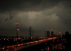 Storm Watch (gardinergirl) Tags: city toronto storm rain clouds highway traffic gardinerexpressway frommybalcony explored iloveagoodthunderstorm