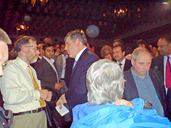 Gordon Brown in Manchester