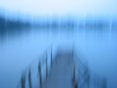 blurred jetty (frazerweb) Tags: blue motion jetty blurred overthereal