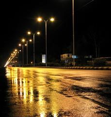 Golden path (sherman padam) Tags: road india gold golden asia jaipur rajasthan roadlights jlnmarg