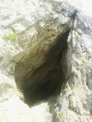 The mouth of Paviland Cave