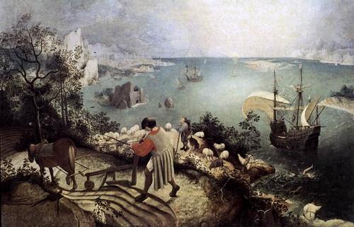 De val van Icarus (Pieter Brueghel de Oudere)