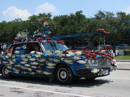 Singing Fish Art Car