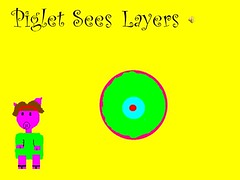 piglet sees layers