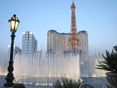 Bellagio fountains from terrace