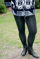 Footless tights (Christie Jane) Tags: tv boots cd tights crossdressing tgirl transgender sissy tranny transvestite crossdresser crossdress gurl tg leggings trannie xdressing xdress tgurl ankleboots opaquetights footlesstights xdressresser