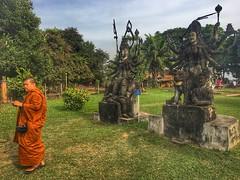 Buddha Park,Vientiane (Alexandr Tikki) Tags: art laos vientiane buddha amazing park travel wow world great creative concept view trip leveltravel outdoor green orange bishop colorful