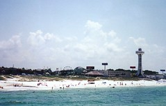 Sun, Surf, Sky, Top of the Beach Tower and Miracle Strip Amusement Park at Panama City Beach, Florida (stevesobczuk) Tags: tower seaside florida amusementpark panamacitybeach miraclestrip redneckriviera us98 frontbeachrd