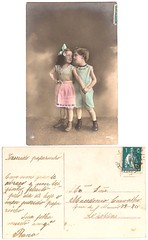 Vintage postcard (CGoulao) Tags: old two classic love portugal vintage paper post mail antique amor postcard duo double romance lovers card oldphoto romantic postal papel papier par namoro ancienne antigo romntico dois clssico namorado correio postalcard tarjetapostal postkard cartepostal bilhetepostal
