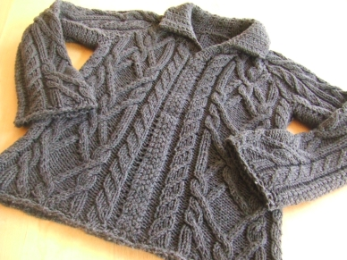 Cable Sweater for Liam