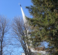 Dartmouth tree (Ann Althouse) Tags: tree church steeple dartmouth