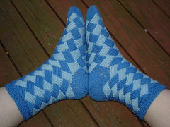 Entrelac Socks  side view