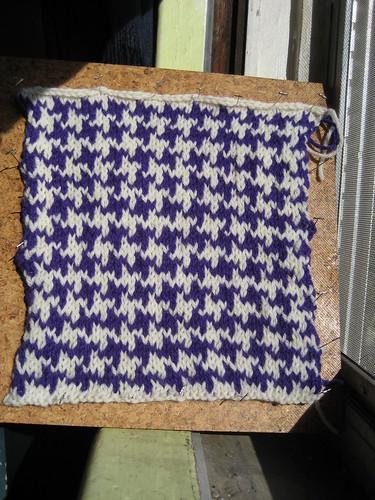 Houndstooth Check Knit Pattern - Website of vudamunj!