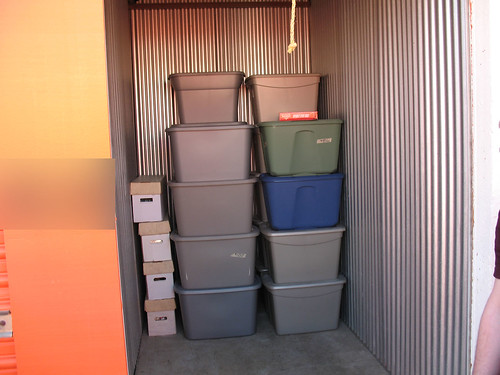 The bins from the show are all in storage now.