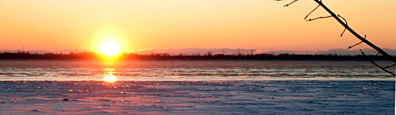 because there is always light over the horizon, even when the river seems frozen. Image by me, available on flickr. Click to view source.