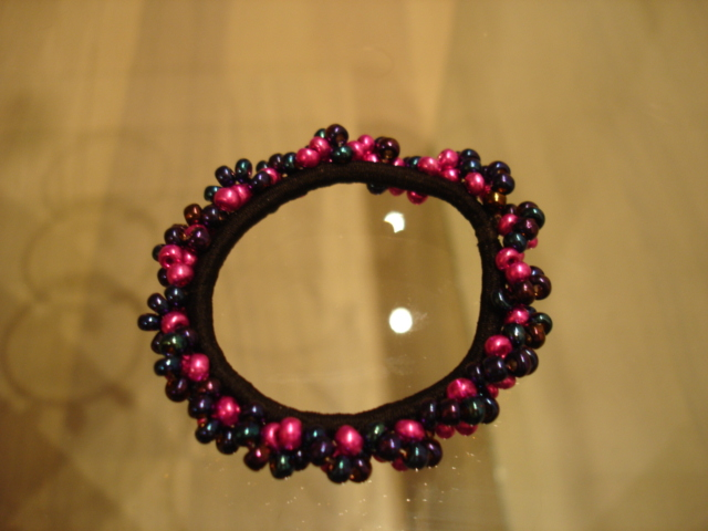 Juuksekumm roosa-metallik