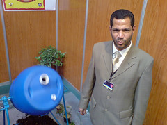 Ebrahim Isa and his composter