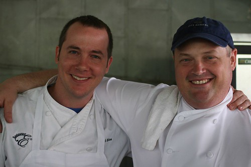 Chef Linton Hopkins and Sous Chef David Bies of Restaurant Eugene