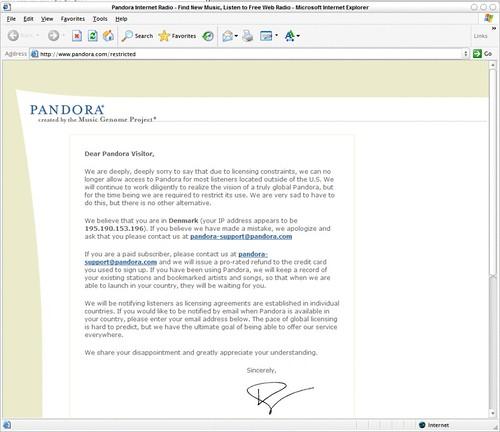 Buh bye, Pandora :(