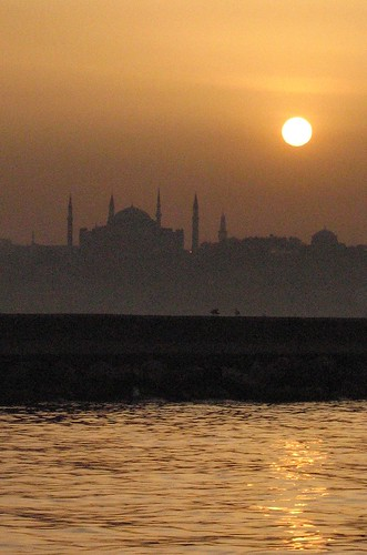 Sunset over Hagia Sophia