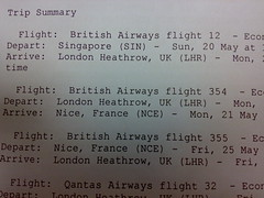 Plane Ticket to Nice