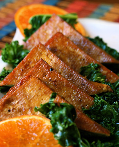 Tangy Tangerine Baked Tofu Cutlets