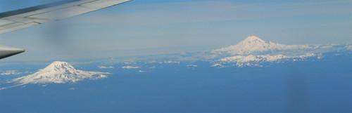 Mt. Raineer and Mt. Adams