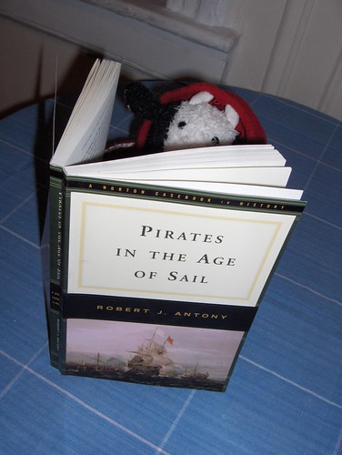 Bully is reading about pirates today.