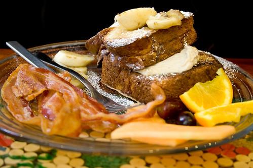 stuffed banana french toast stuff
