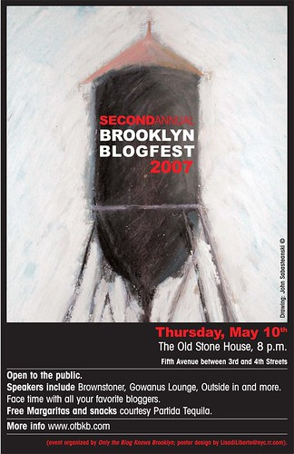 Brooklyn Blogfest 2007 Poster by Lisa Di Liberto