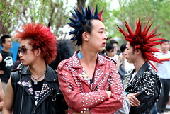 MIDI Technicolour Punks (China Chas) Tags: china music leather festival rock hair punk beijing clothes punkrocker midi 2007 50mmf18