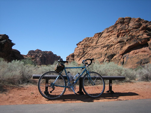 Bleriot visits Snow Canyon State Park, St George, Utah