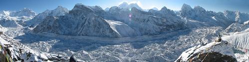 Nepal - Sagamartha Trek - Ngozumba Gl from Gokyo Ri