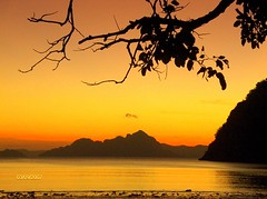 Sunset in Brgy. Corong Corong,  El Nido, Palawan Philippines by chona_p