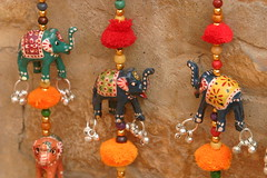 Three Little Elephants (jenzlenz) Tags: india 2006 canon10d elephants rajasthan trinket