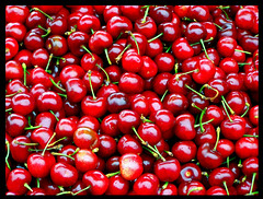 Lots of Cherries (Nikki OK) Tags: sanfrancisco red fruit cherries pier39 fruitstand jesters abigfave aplusphoto superhearts