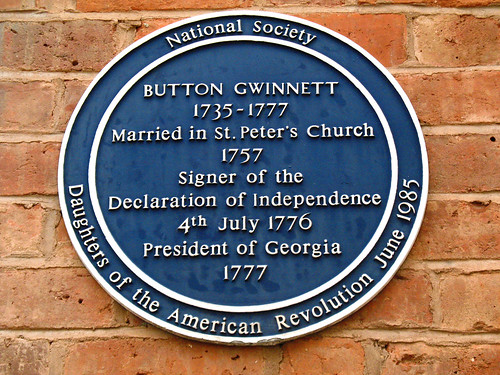 Button Gwinnett, Father of the Revolution