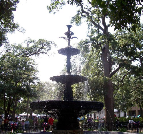 Bienville Square fountain