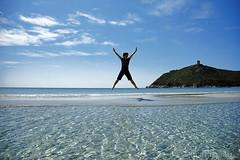 Vital Jump! (LucaPicciau) Tags: sardegna sea woman water jump jumping mare sardinia villasimius sunny winner salto winners vital vitruvian lupi salti vitruviano i lupi75 balzo mywinner