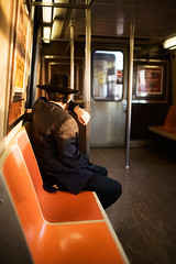 (razorbern) Tags: nyc man subway hasidic ftrain