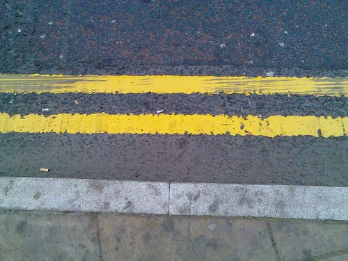 Yellow Lines With Skids