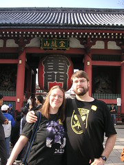 Diana and Aaron at the Kaminarimon Gate, Asakusa