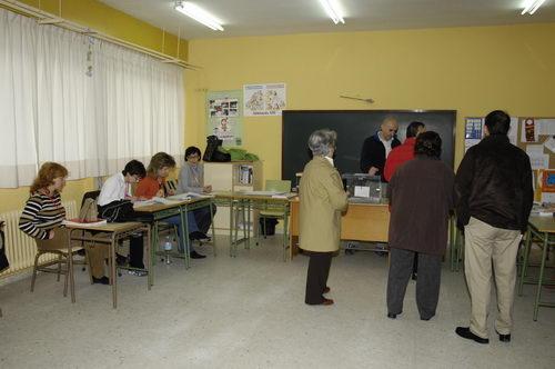 Imagen de la joranda de votaciones en unas elecciones pasadas. Foto Pedro Merino