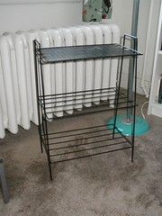 black wire shelves