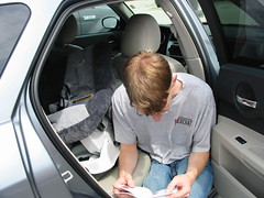Ryan installing the new seat