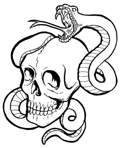 Snake and skull originally uploaded by Joe 13