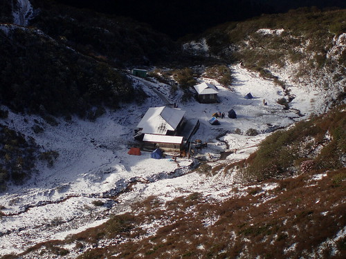 Our camp, we got up in the snow