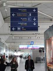 Ataturk Airport - International Terminal (brunoboris) Tags: turkey airport signage wayfinding passportcontrol airportterminal ataturkairport istanbuairport