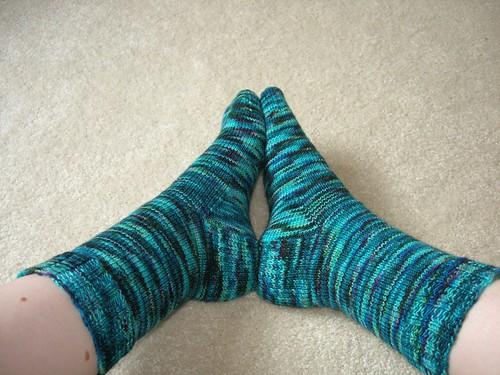 Blue Colinette socks 2